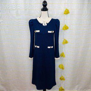Vintage 70s Adolfo Sweater Midi Dress Womens Small